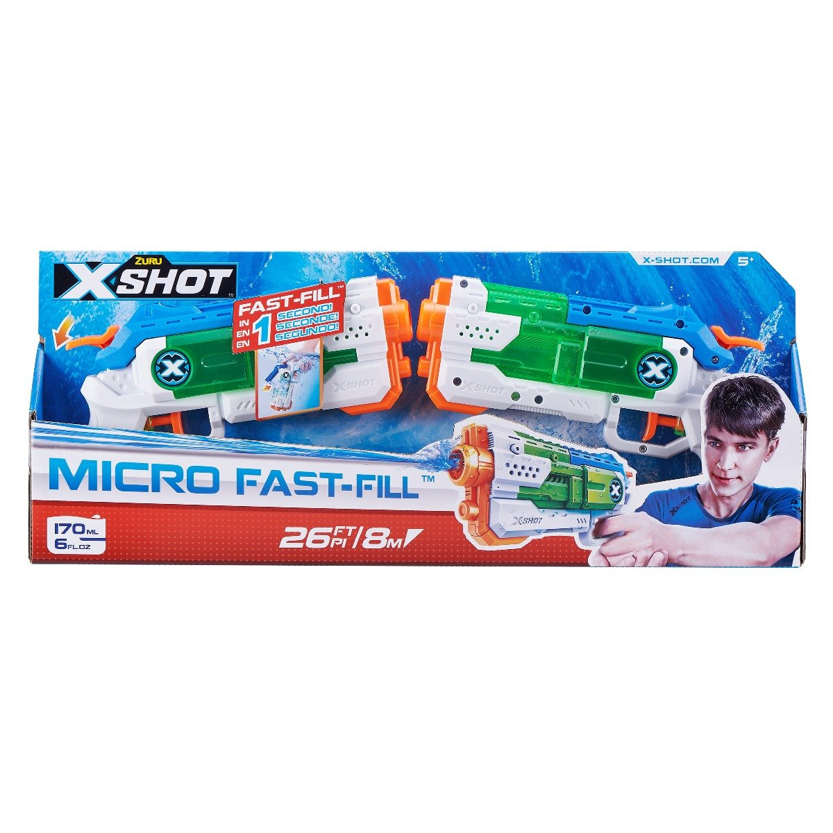 Set pistoale cu apa X-Shot Warfare Micro Fast-Fill