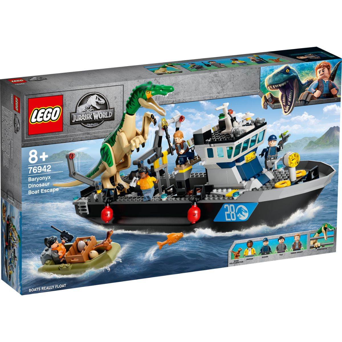 LEGO® Jurassic World - Evadarea Cu Barca A Dinozaurului Baryony (76942)