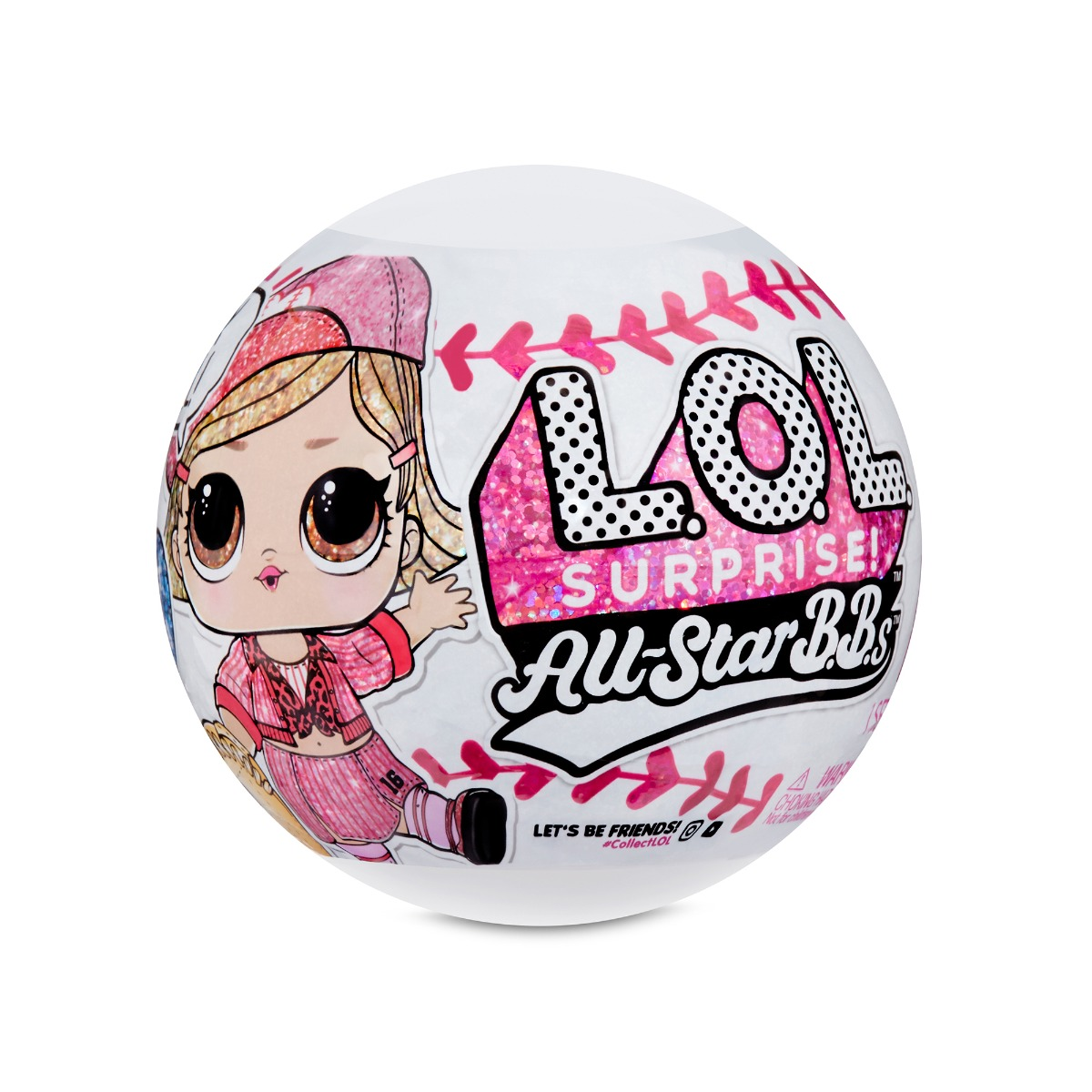 Papusa LOL Surprise All Star B.B.s, Baseball, 8 Surprize, S1, Pink