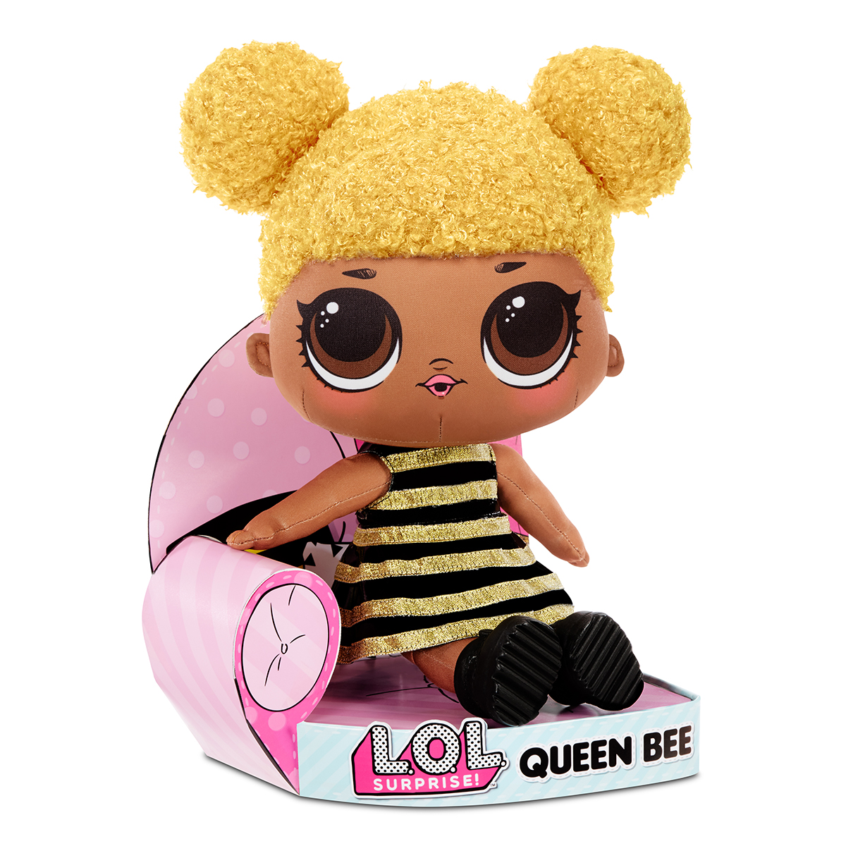 LOL Surprise Plush, Papusa Queen Bee din plus moale, 571292E7C