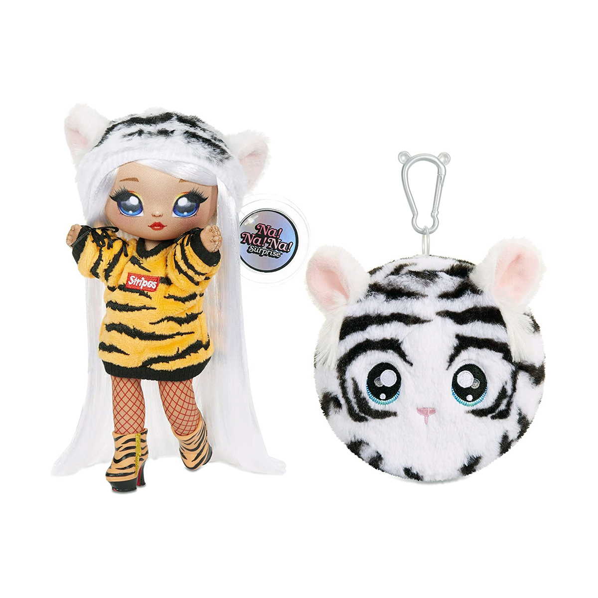 Na Na Na Surprise 2 in 1, S4 - Papusa si accesoriu fashion, Bianca Bengal, 571742E7C