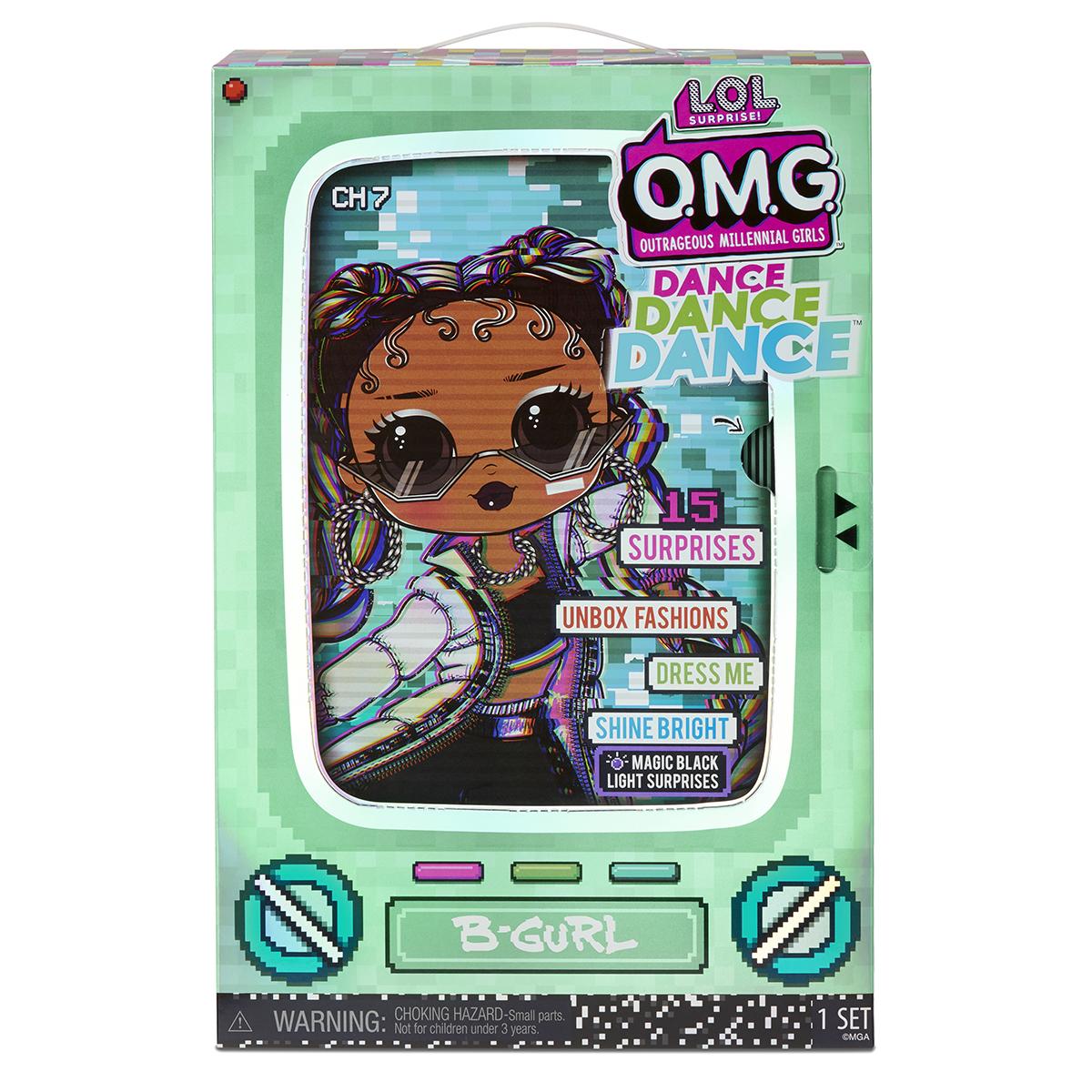 Papusa LOL OMG Surprise Dance, B-Gurl, 15 surprize, 117858EUC