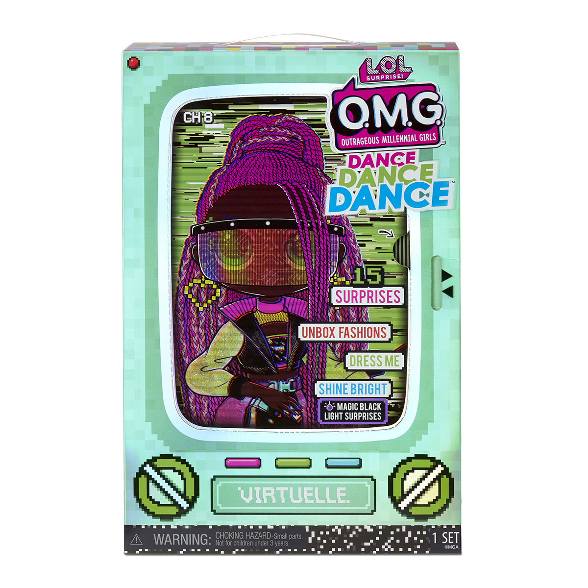 Papusa LOL OMG Surprise Dance, Virtuelle, 15 surprize, 117865EUC