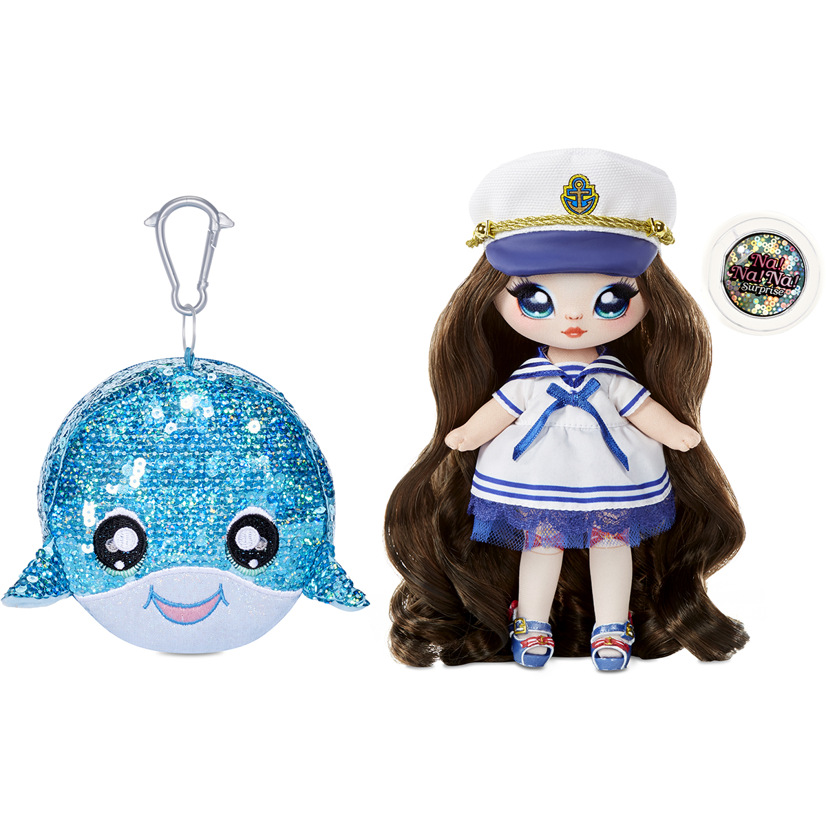 Na Na Na Surprise 2 in 1, Sparkle S1 - Papusa si accesoriu fashion, Sailor Blu, 573753