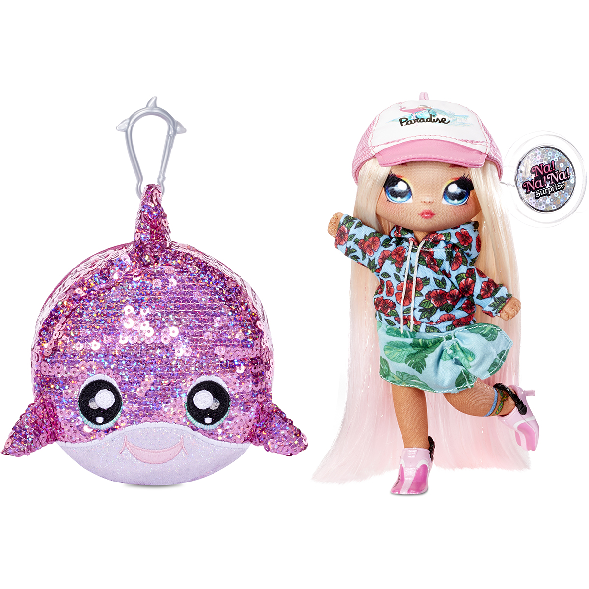 Na Na Na Surprise 2 in 1, Sparkle S1 - Papusa si accesoriu fashion, Krysta Splash, 573760