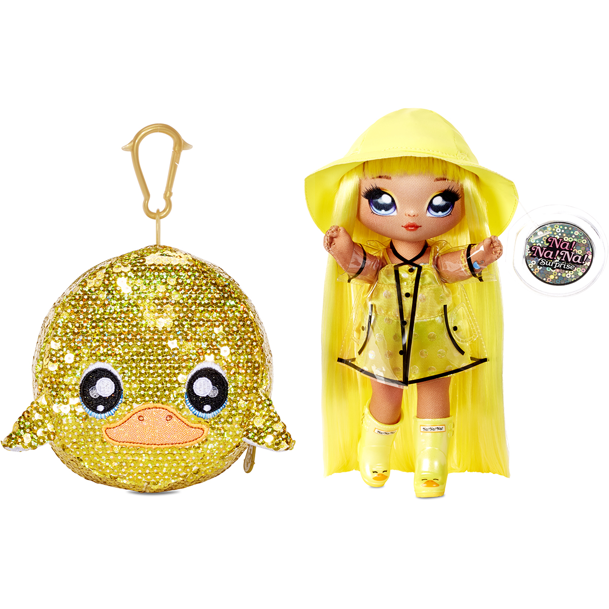 Na Na Na Surprise 2 in 1, Sparkle S1 - Papusa si accesoriu fashion, Daria Duckie, 573777