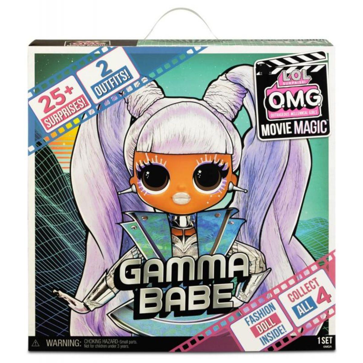 Papusa LOL Surprise OMG Movie, cu 25 de surprize, Gamma Babe, 577898EUC