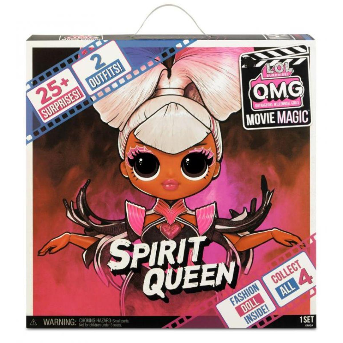 Papusa LOL Surprise OMG Movie, cu 25 de surprize, Spirit Queen, 577928EUC