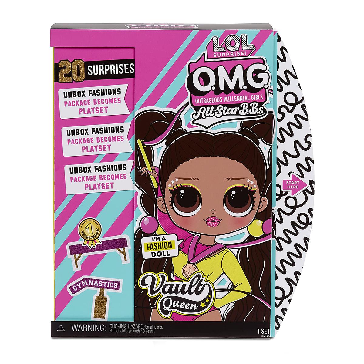 Papusa LOL Surprise OMG Sports, Vault Queen cu 20 de surprize, 577515EUC