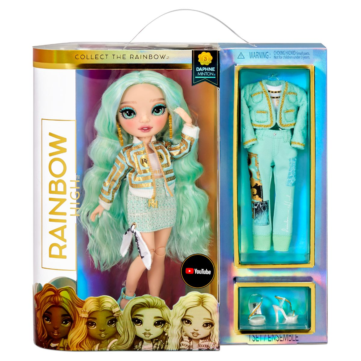 Papusa Fashion Rainbow High Daphne Minton, 575764