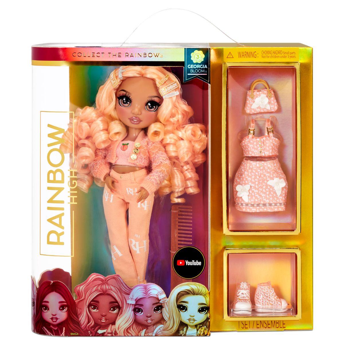 Papusa Fashion Rainbow High Georgia Bloom, 575740