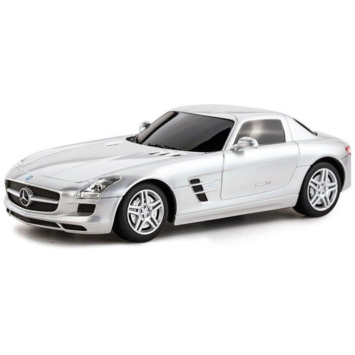 Masinuta Rastar Mercedes-Benz SLS AMG, Gri, 1:43