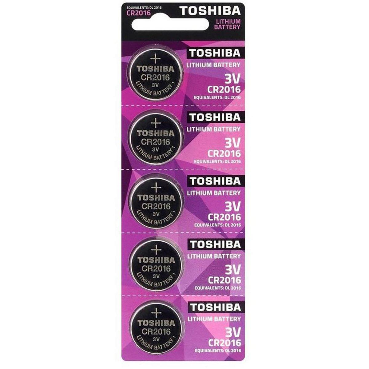Baterii Toshiba CR 2016, 5 buc imagine