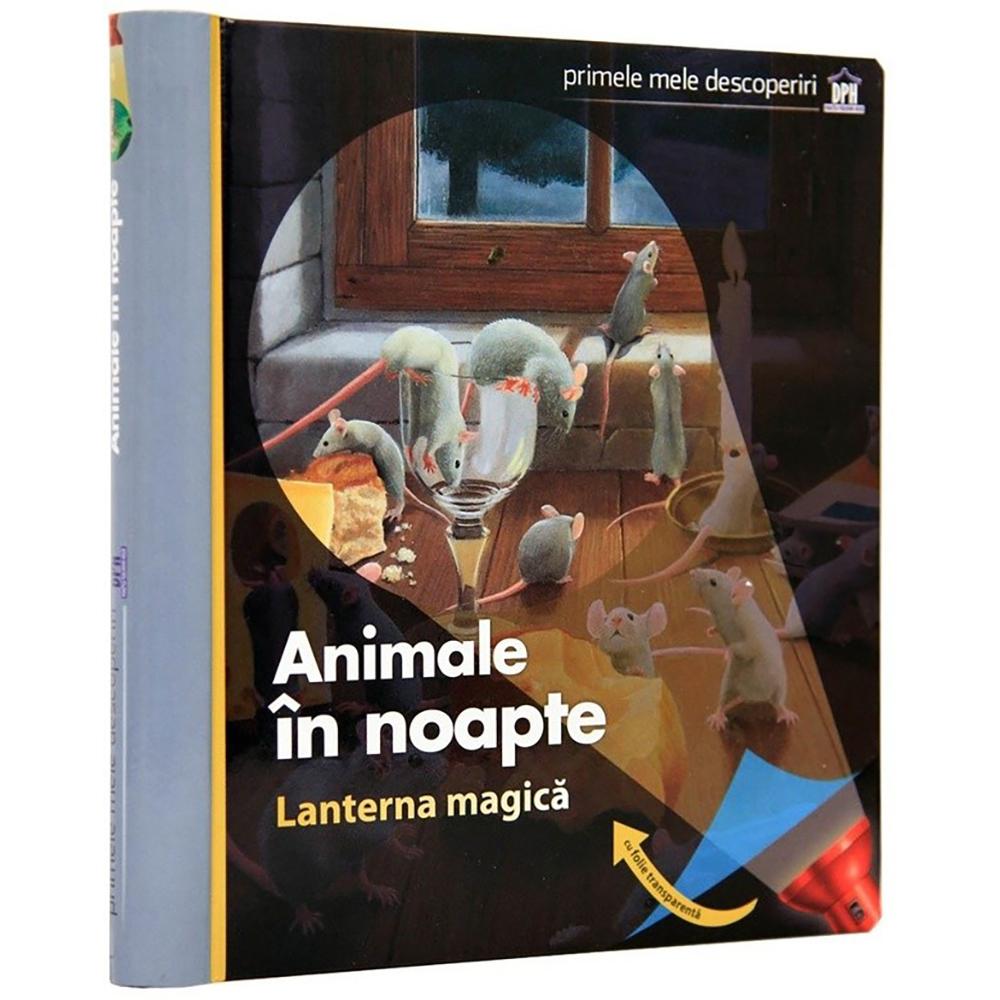 Carte Animale in noapte (cu lanterna magica), Editura DPH