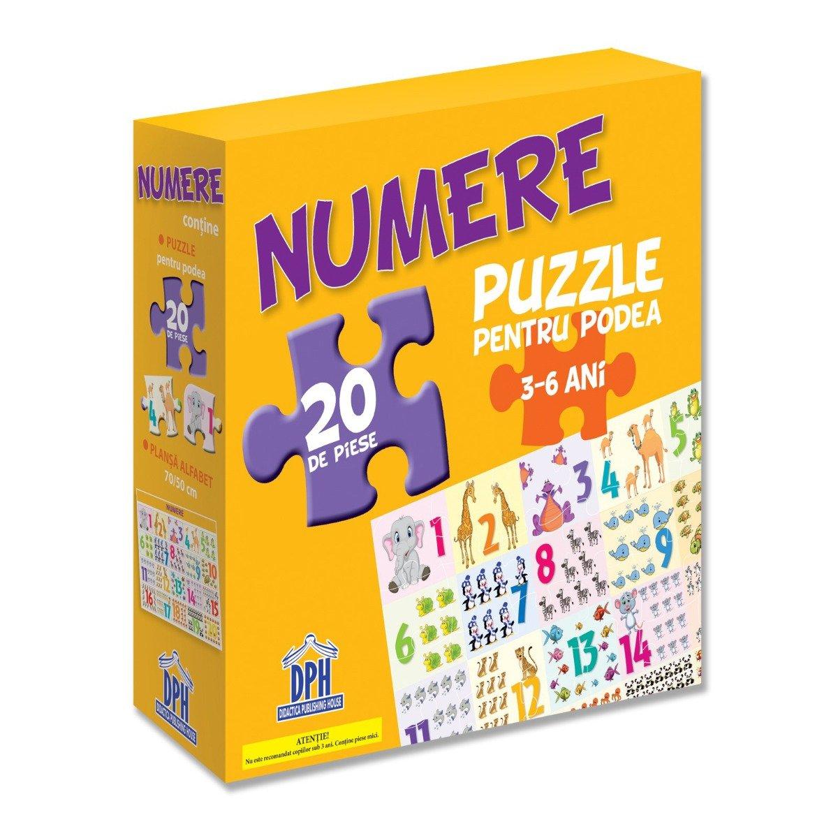 Puzzle pentru podea Editura DPH, Numere, 20 piese