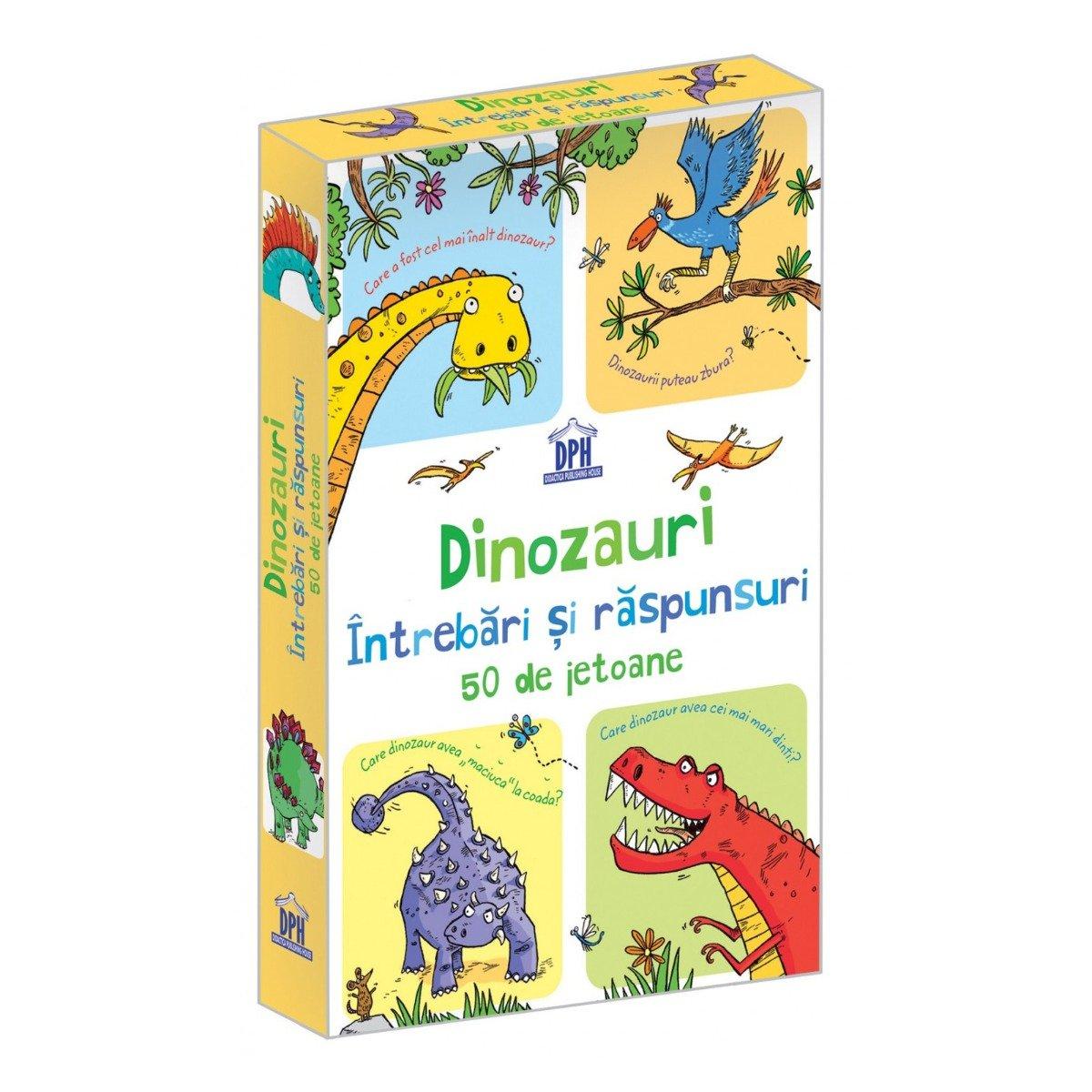 Dinozauri, Intrebari si raspunsuri, 50 jetoane, Editura DPH
