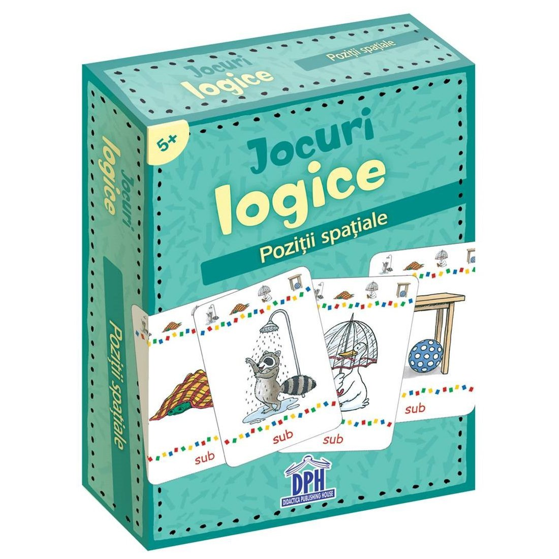 Jocuri logice, Pozitii spatiale, Editura DPH, 48 jetoane imagine 2021