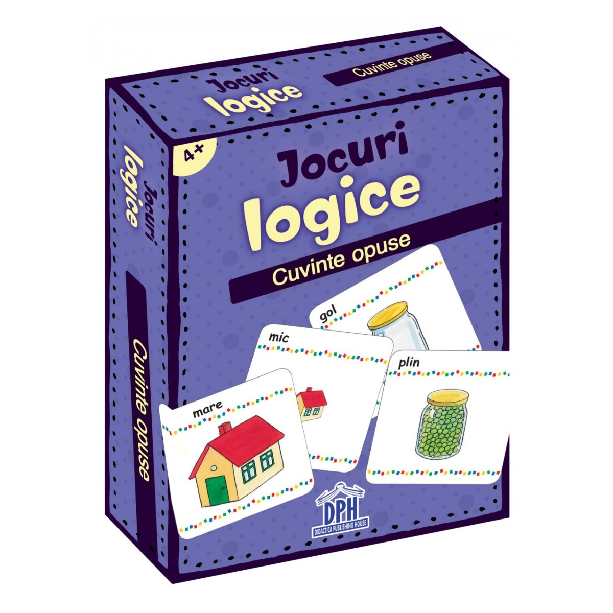Jocuri logice, Cuvinte opuse, Editura DPH, 48 jetoane imagine 2021