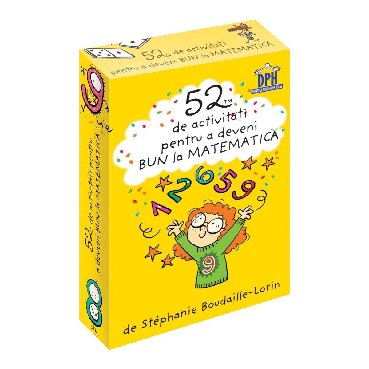 52 jetoane pentru a deveni bun la matematica, Editura DPH