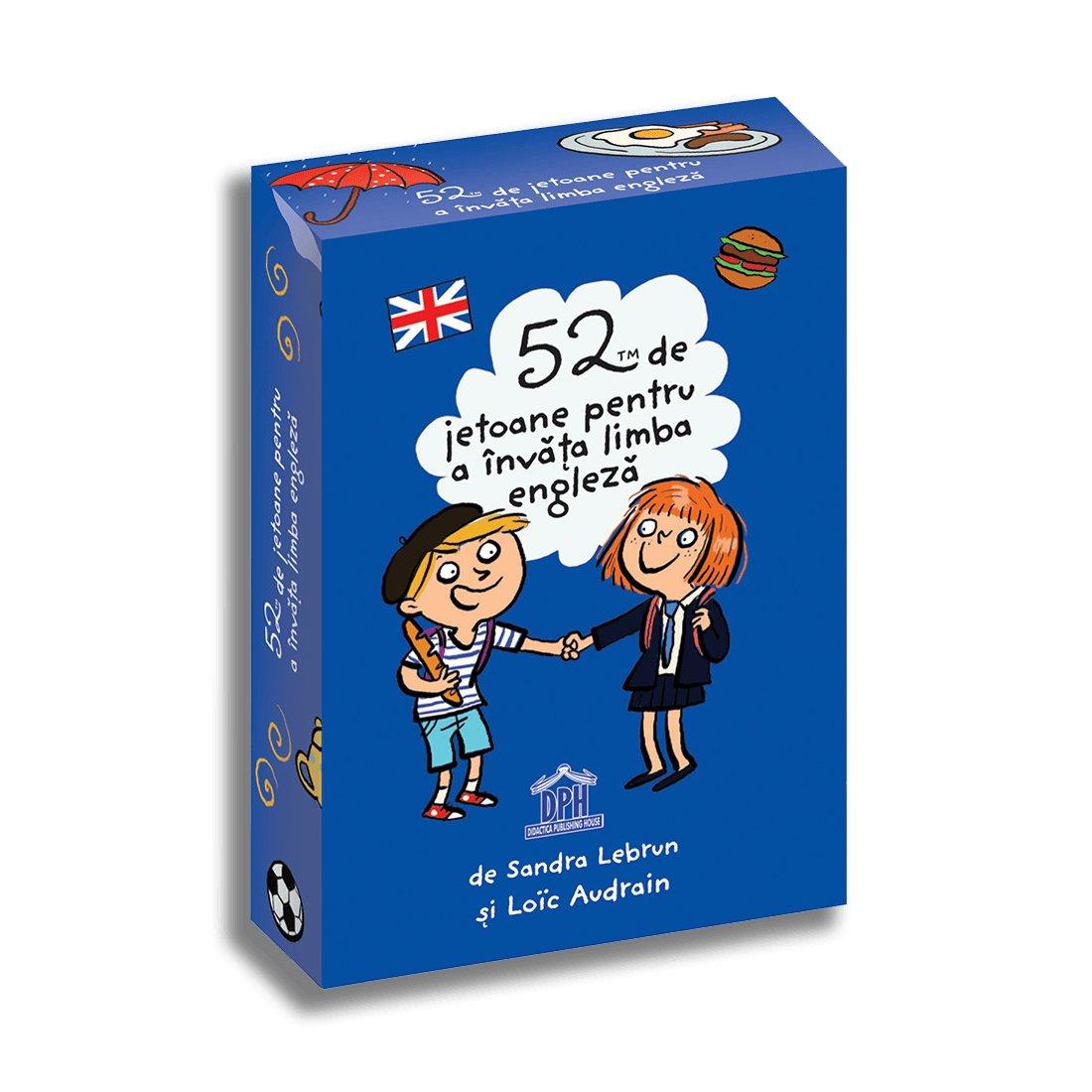 52 de jetoane pentru a invata limba engleza, Editura DPH