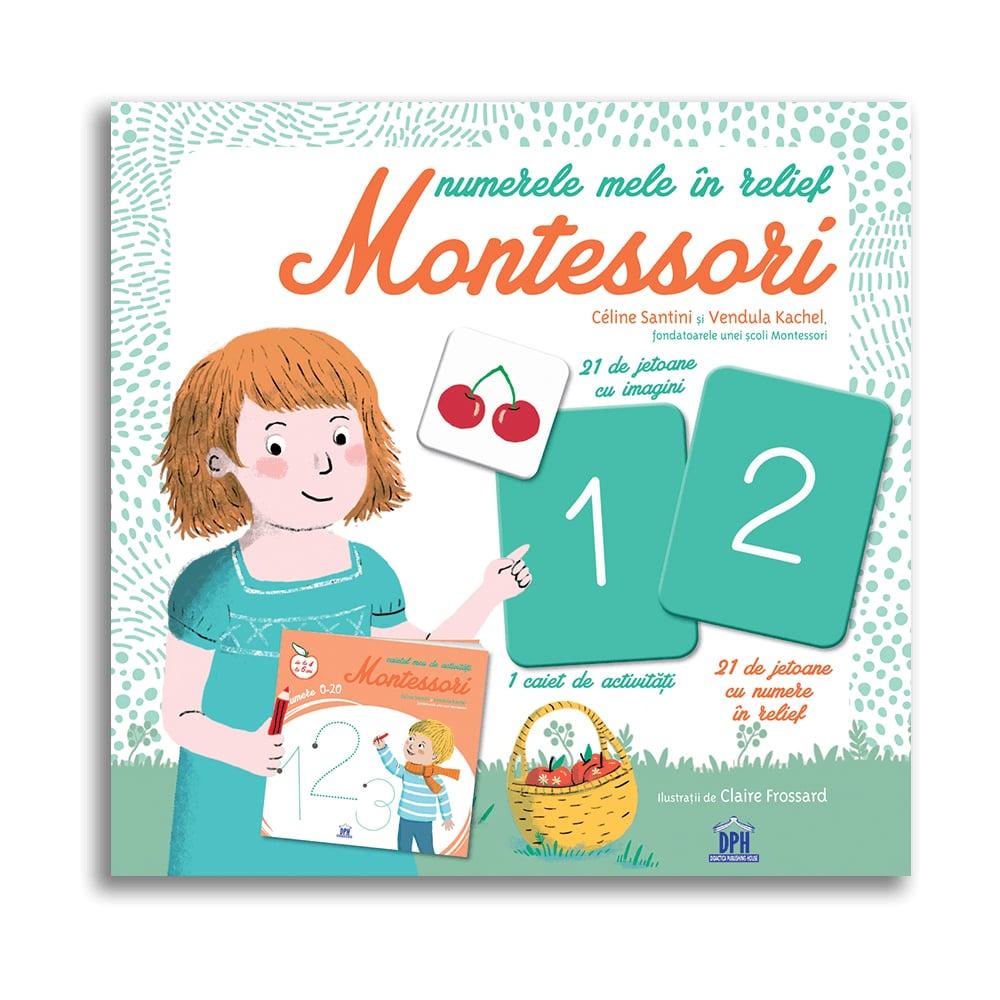 Numerele mele in relief Montessori, Editura DPH