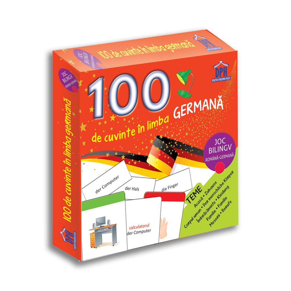 100 de cuvinte in Limba Germana - joc bilingv, Editura DPH imagine 2021