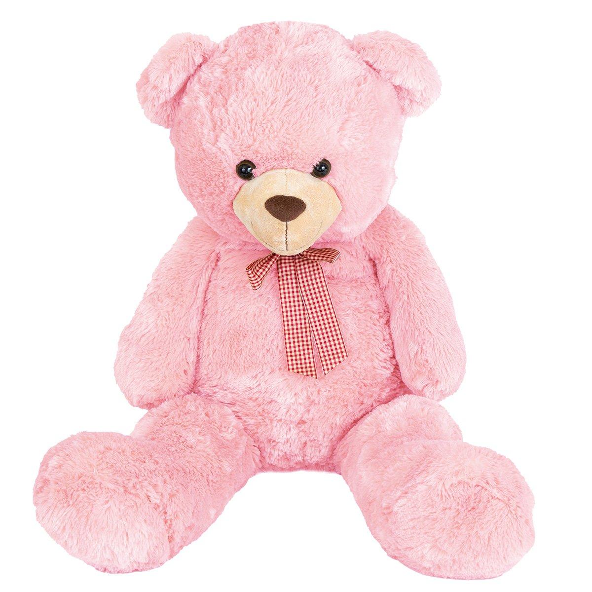 Jucarie de plus, Noriel Plush, Urs roz 100 cm