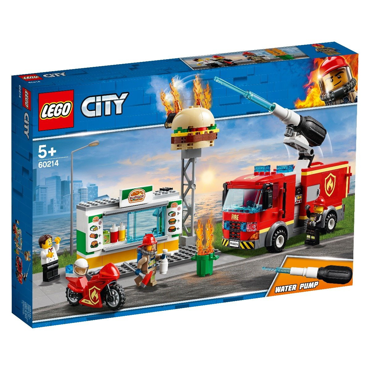 LEGO® City - Stingerea incendiului de la Burger Bar (60214)