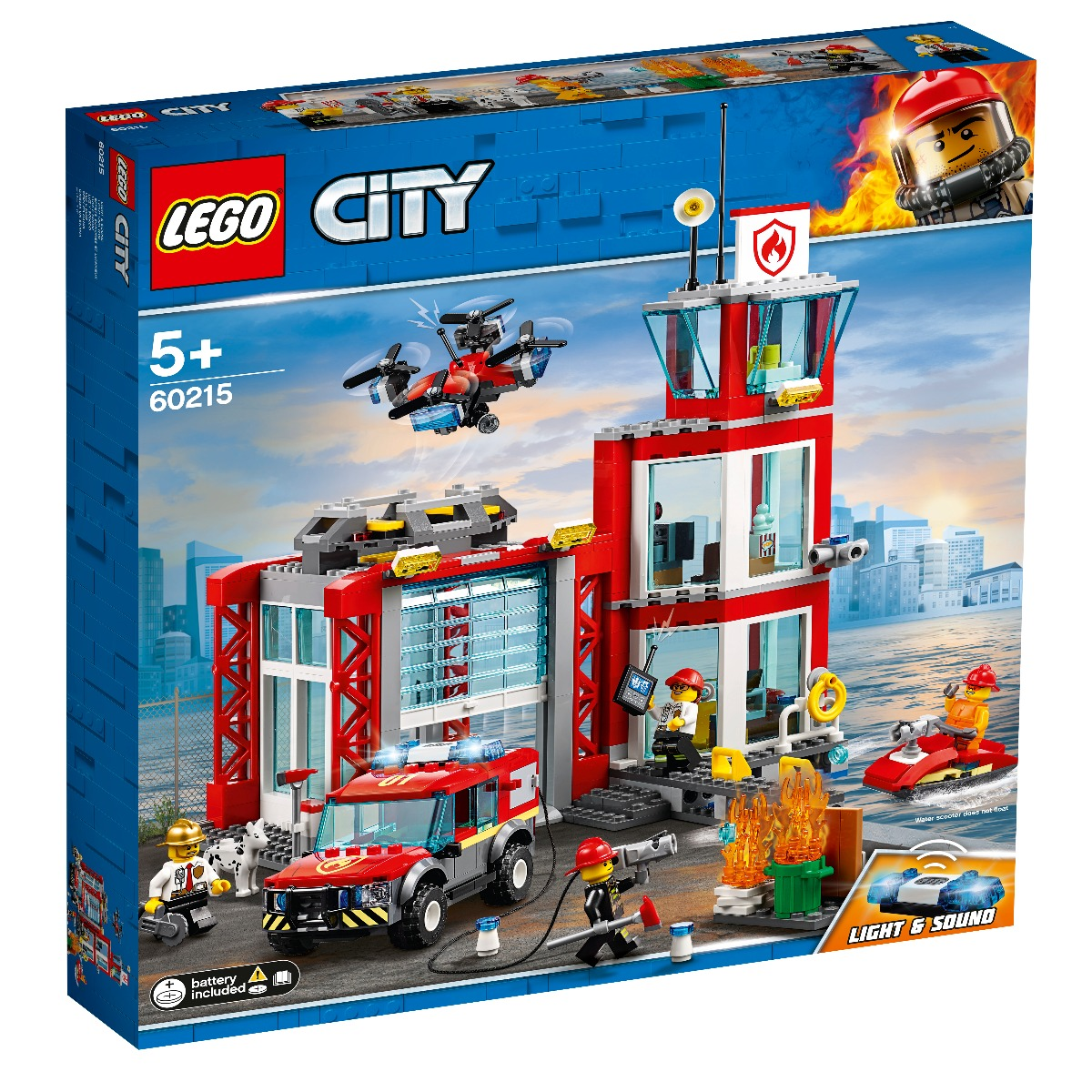 LEGO® City - Statie de pompieri (60215) imagine 2021