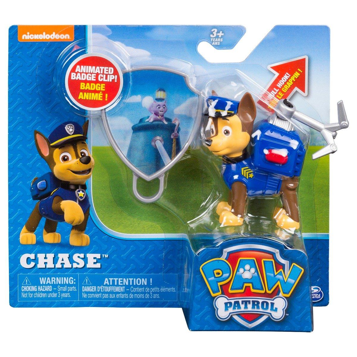 Figurina si insigna Paw Patrol - Chase (20093666) imagine 2021