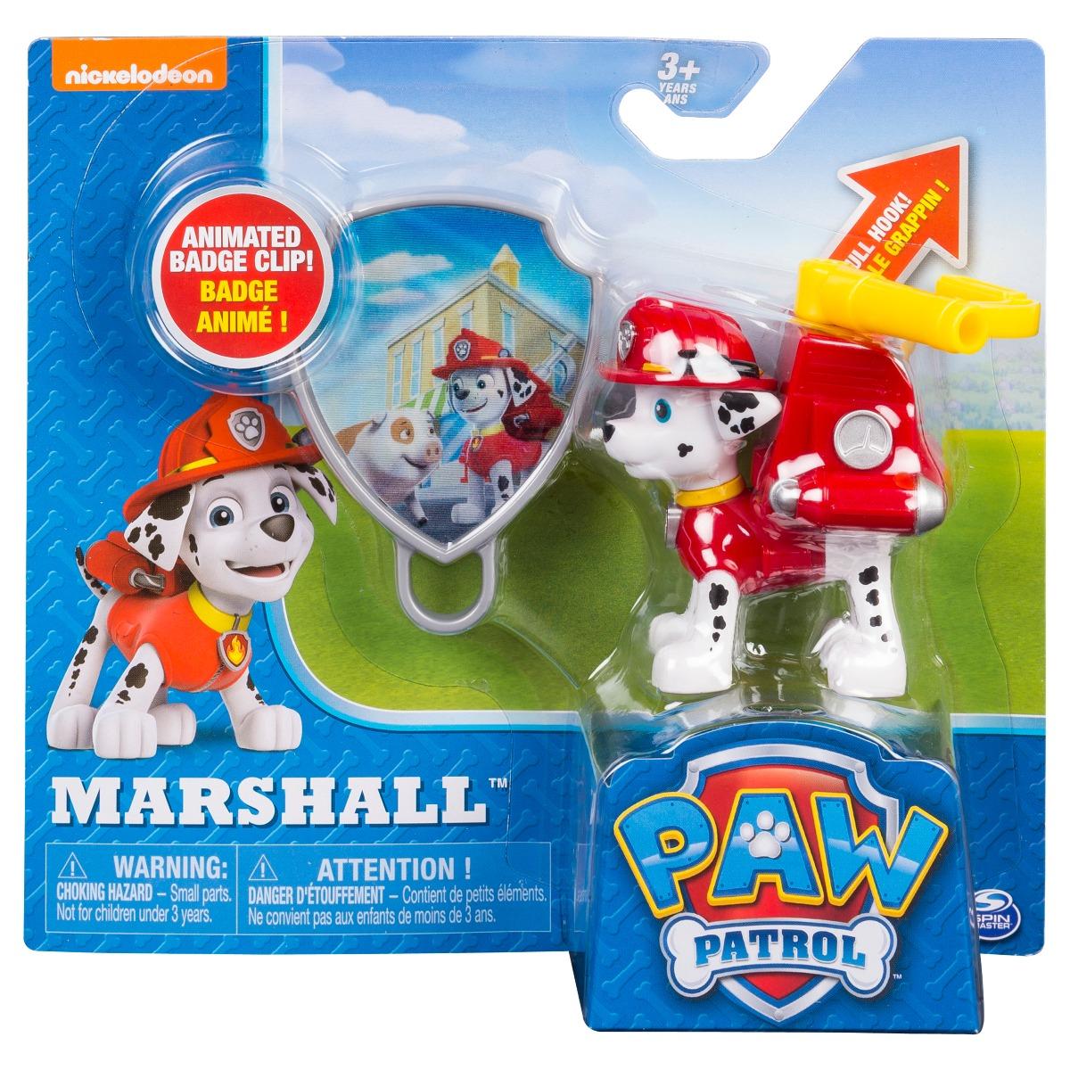 Figurina si insigna Paw Patrol - Marshall (20093667) imagine 2021