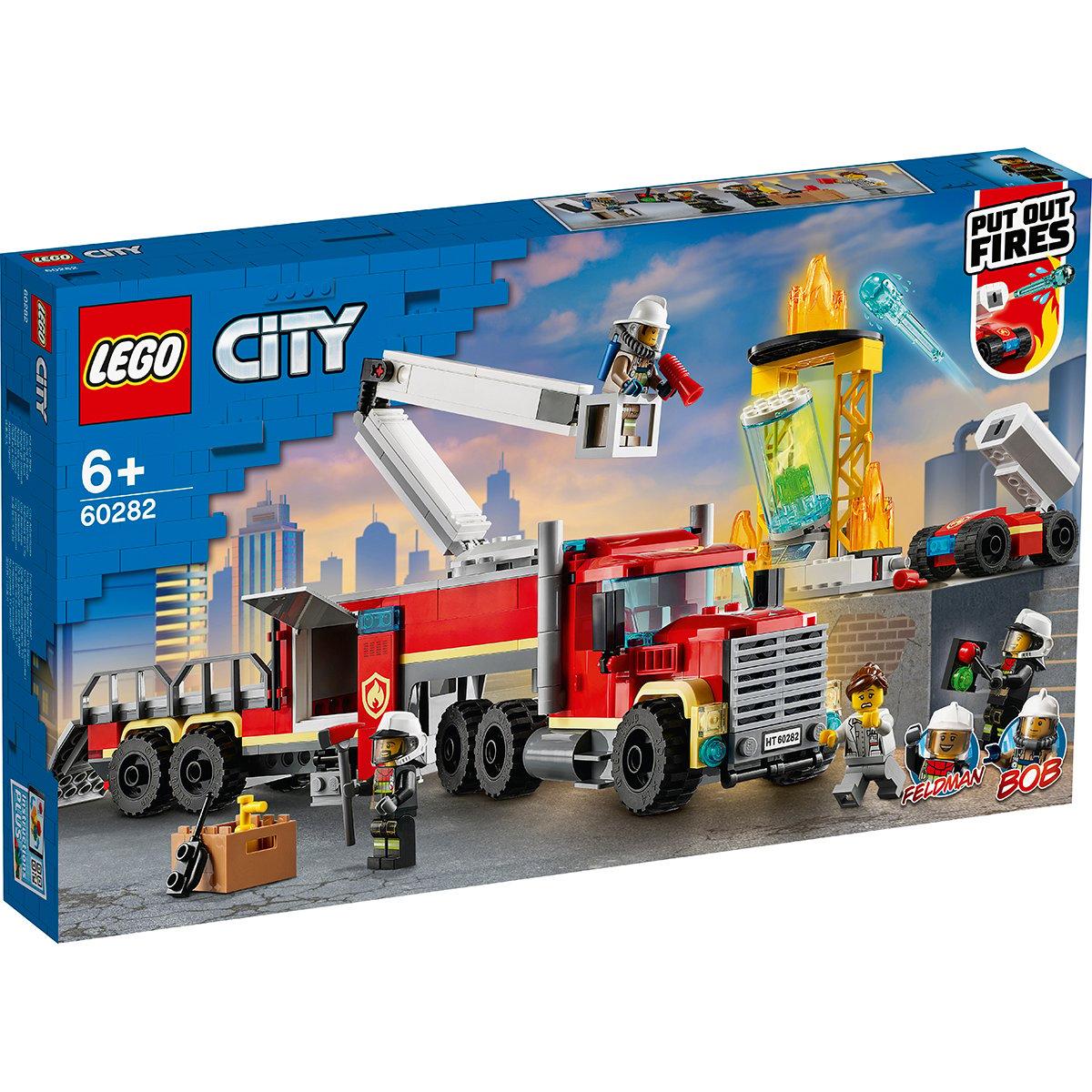 LEGO® City - Unitatea de comanda a pompierilor (60282)