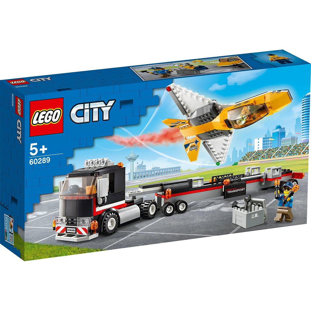 LEGO® City - Transportor de avion cu reactie pentru spectacol aviatic (60289)
