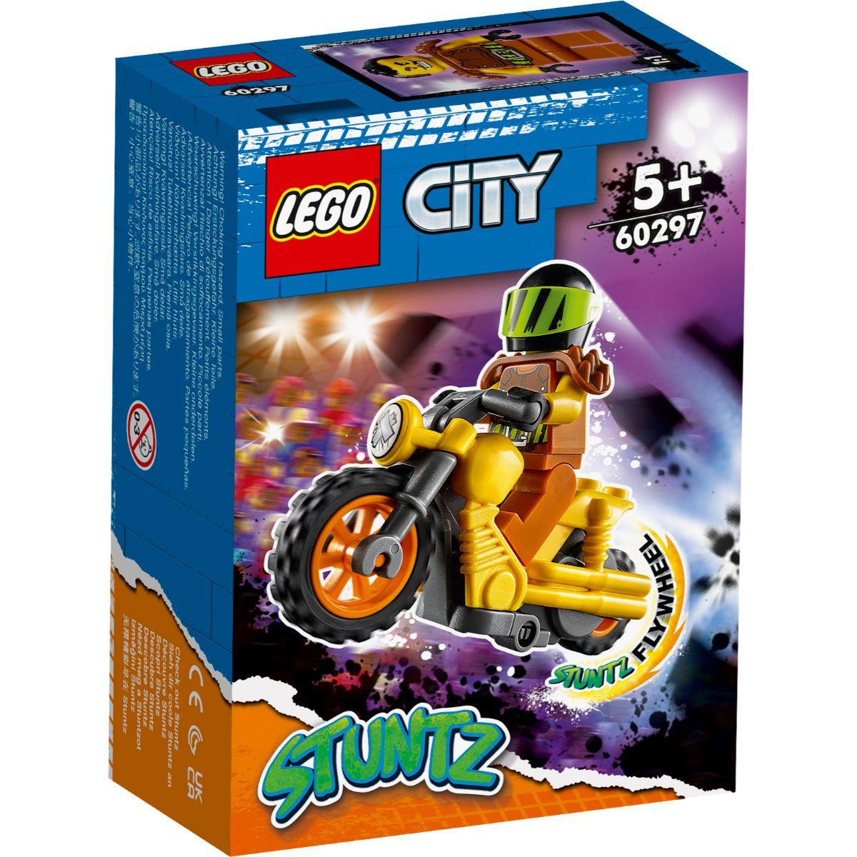 LEGO® City - Motocicleta de cascadorie pentru impact (60297)