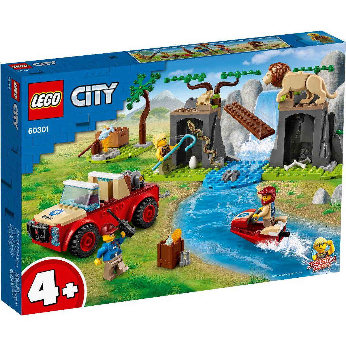 LEGO® City - Masina de teren pentru salvarea animalelor (60301)