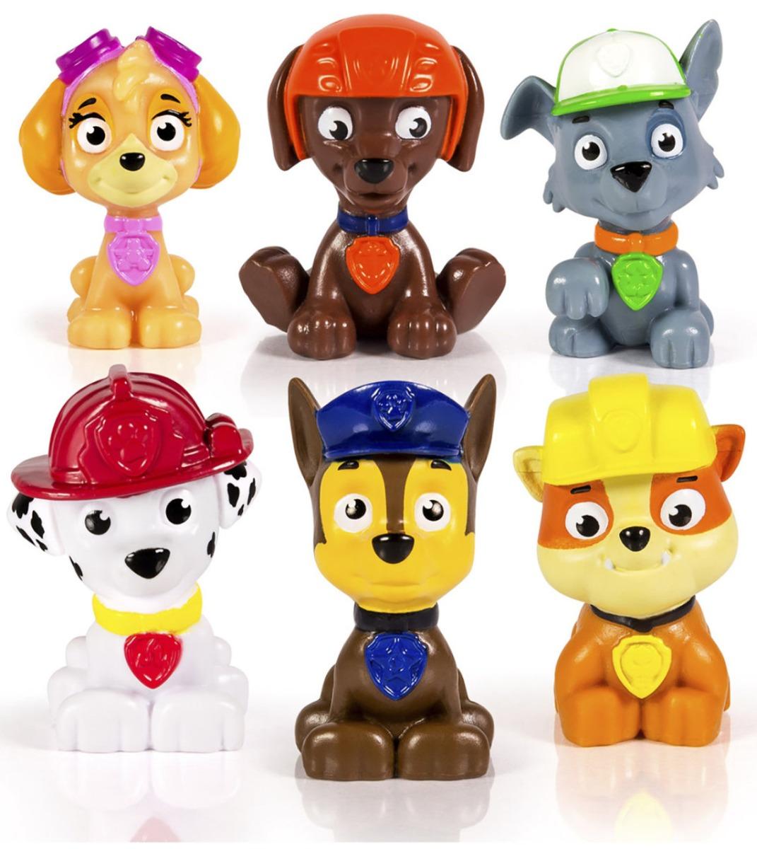 set figurine paw patrol rescue team