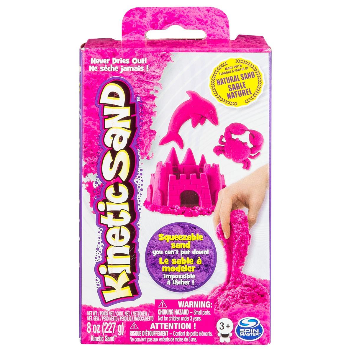 Rezerva nisip colorat Kinetic Sand, roz, 227g imagine