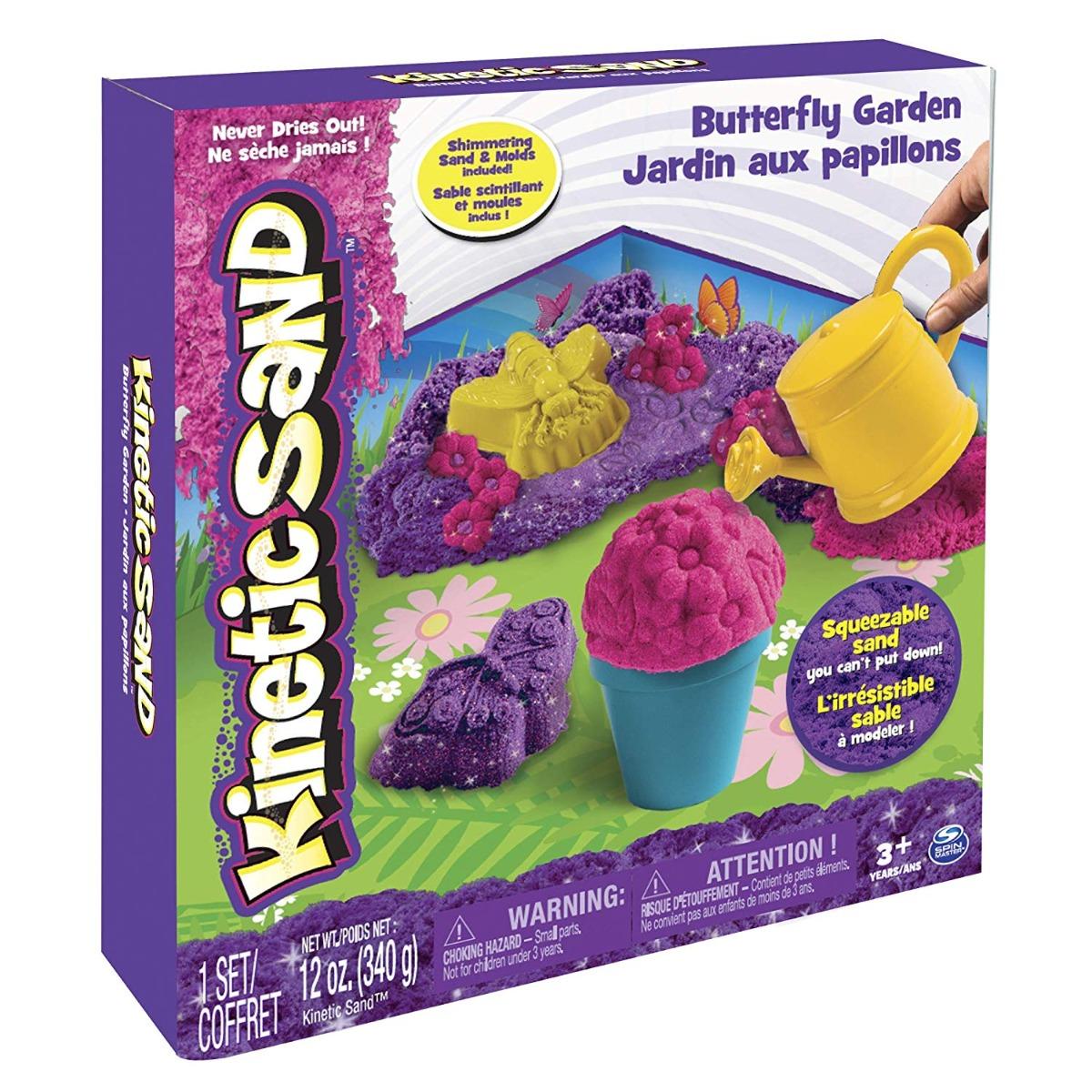 Set de creatie Kinetic Sand - Joaca in gradina