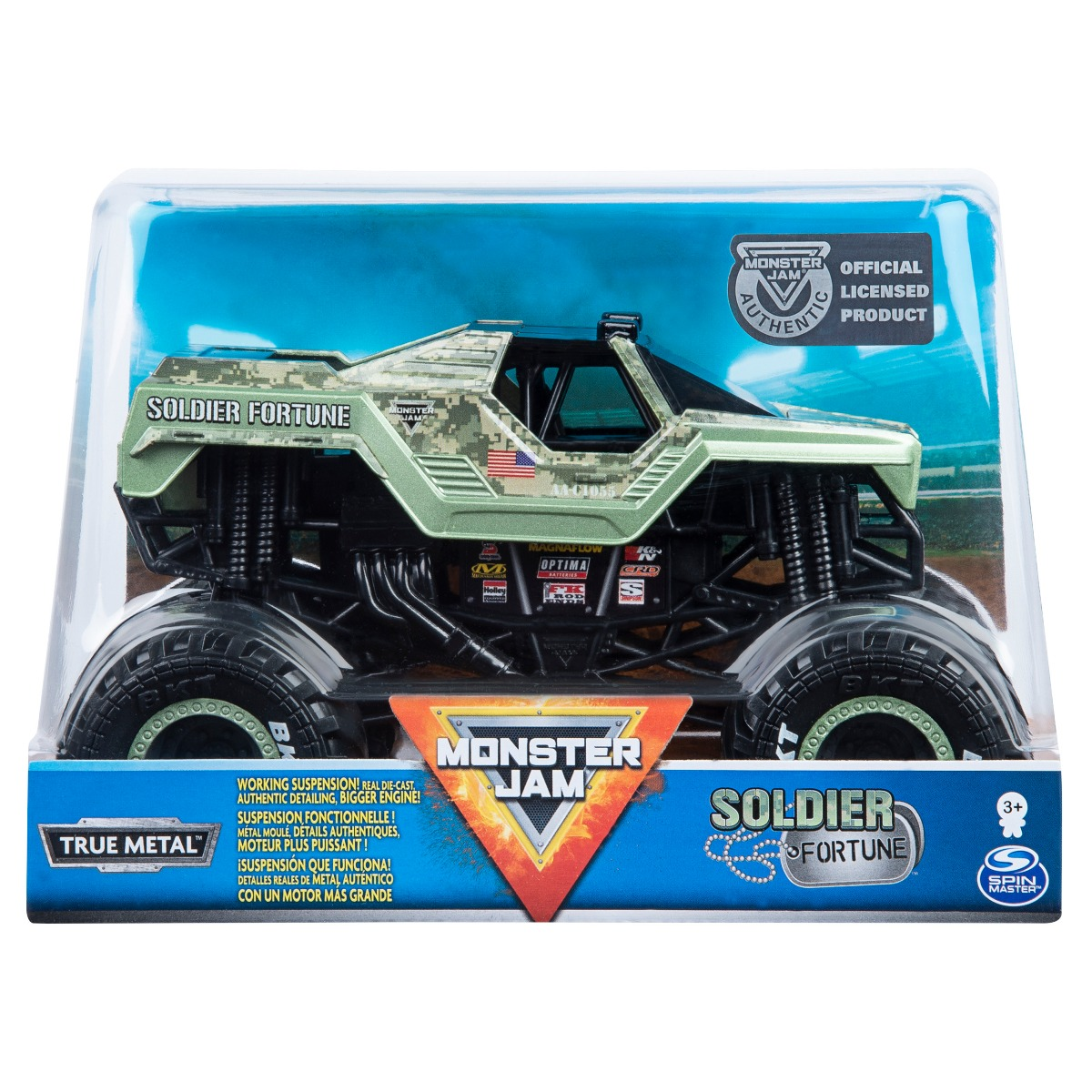 Masinuta Monster Jam, Soldier Fortune, Scara 1:24, 20108315