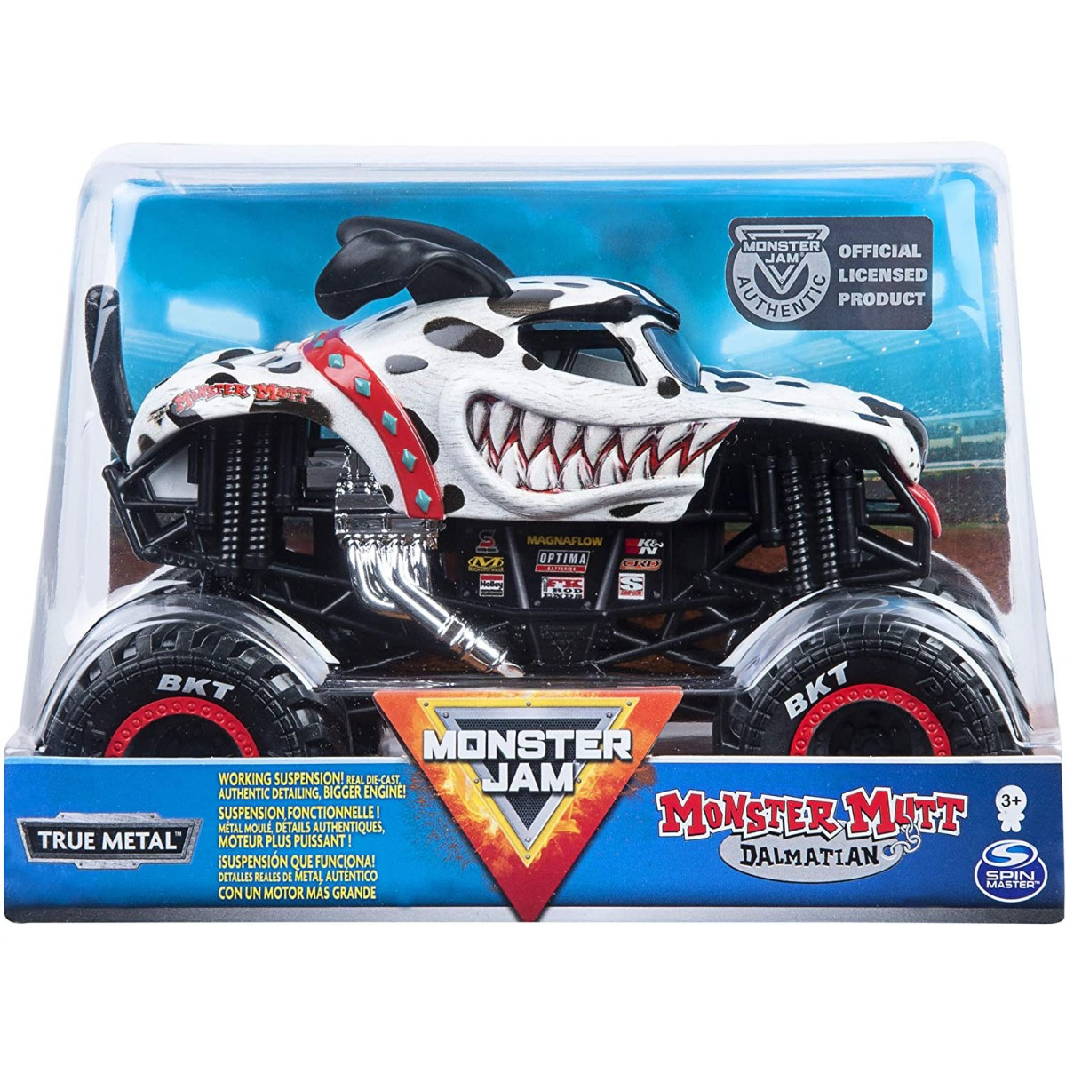 Masinuta Monster Jam, Monster Mutt Dalmatian, Scara 1:24 imagine 2021