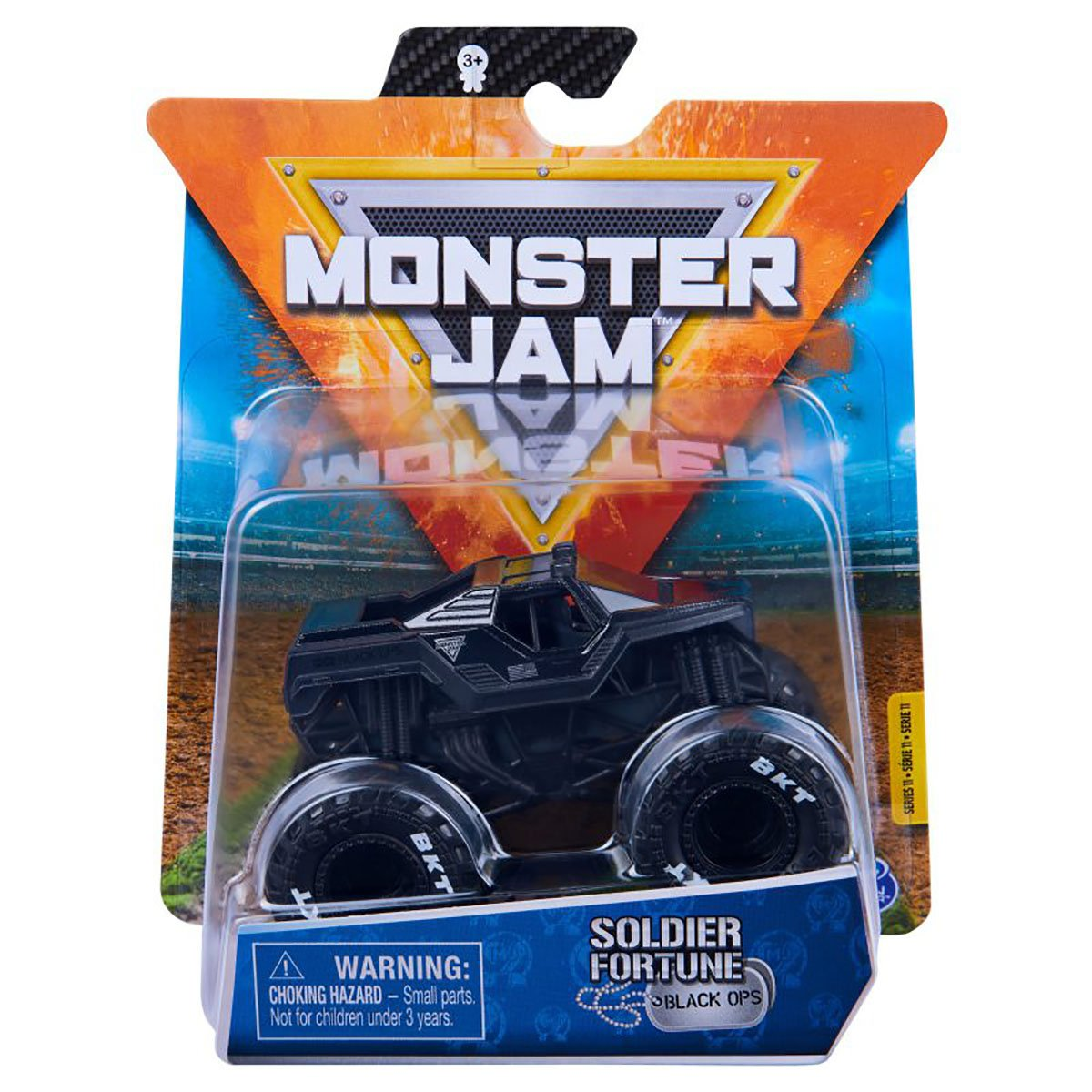 Masinuta Monster Jam, Scara 1:64, Soldier Fortune Black Ops, Negru