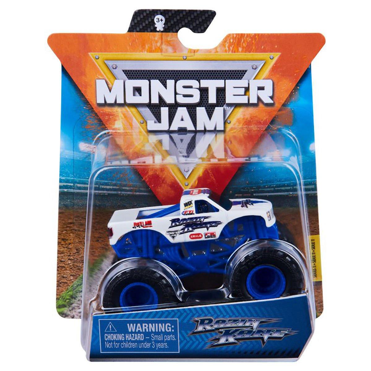Masinuta Monster Jam, Scara 1:64, Razin Kane, Albastru