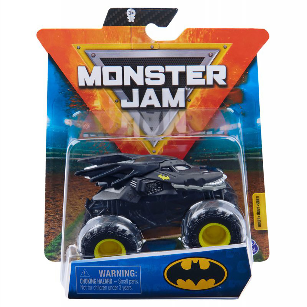 Masinuta Monster Jam, Scara 1:64, Batman, Negru