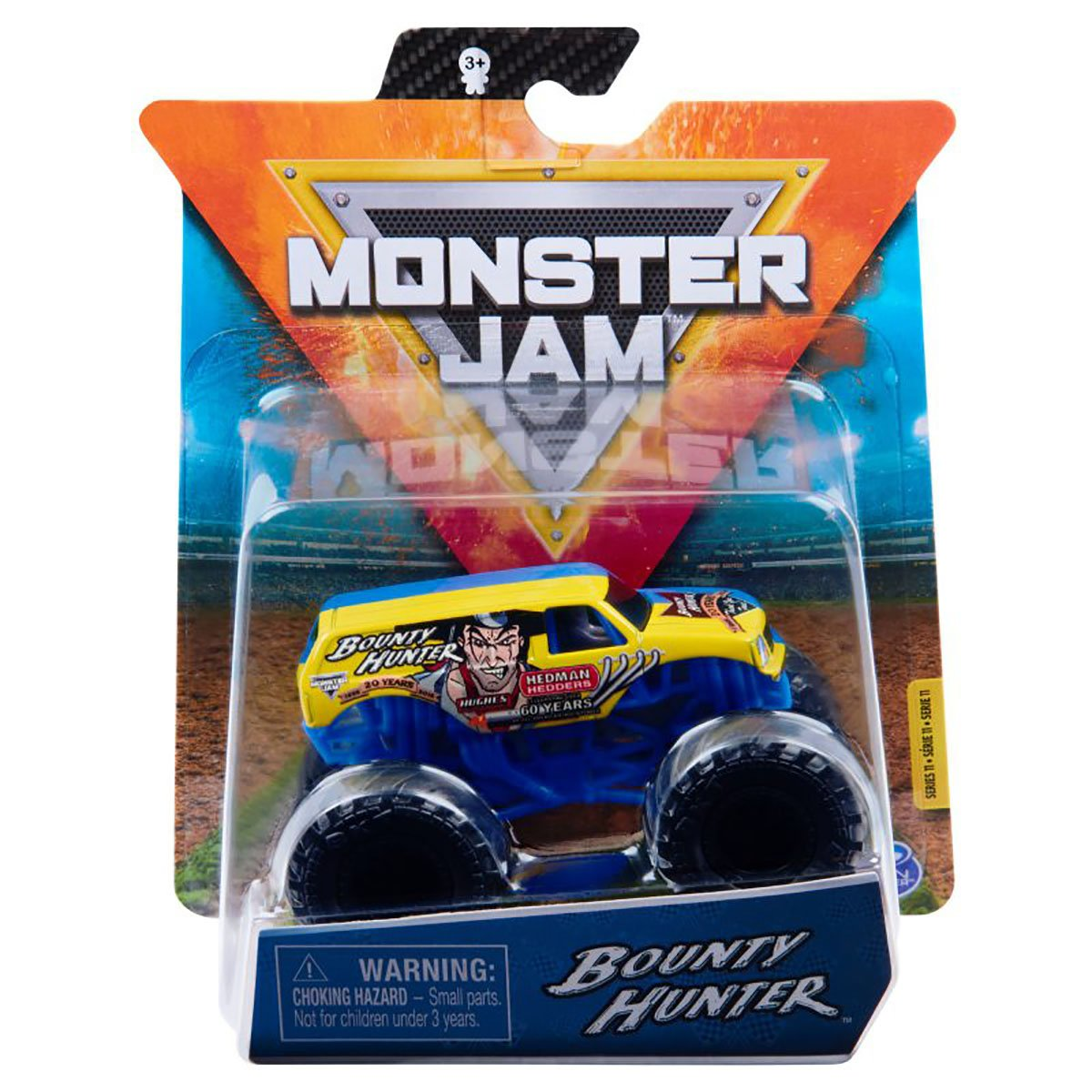 Masinuta Monster Jam, Scara 1:64, Bounty Hunter, Albastru
