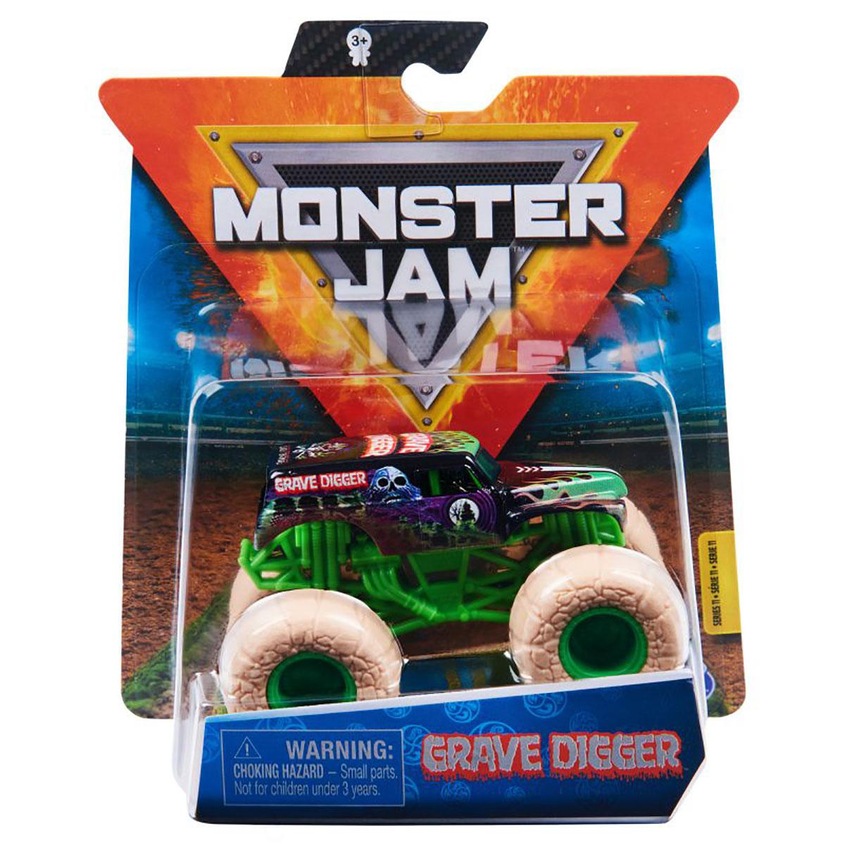 Masinuta Monster Jam, Scara 1:64, Grave Digger, Verde
