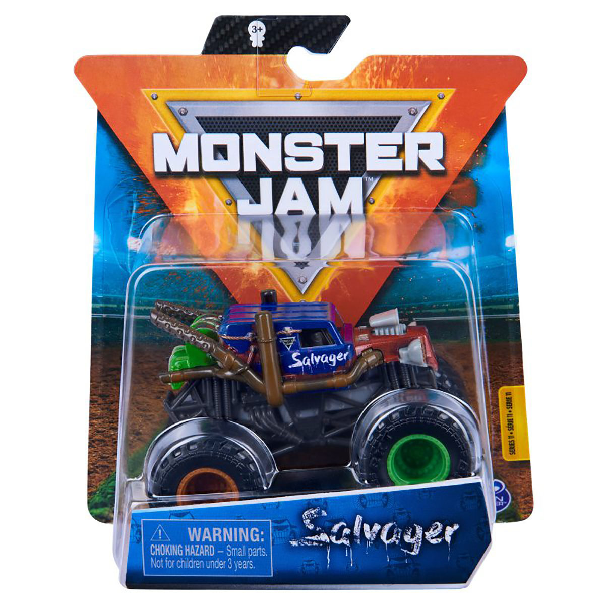Masinuta Monster Jam, Scara 1:64, Salvager, Multicolor