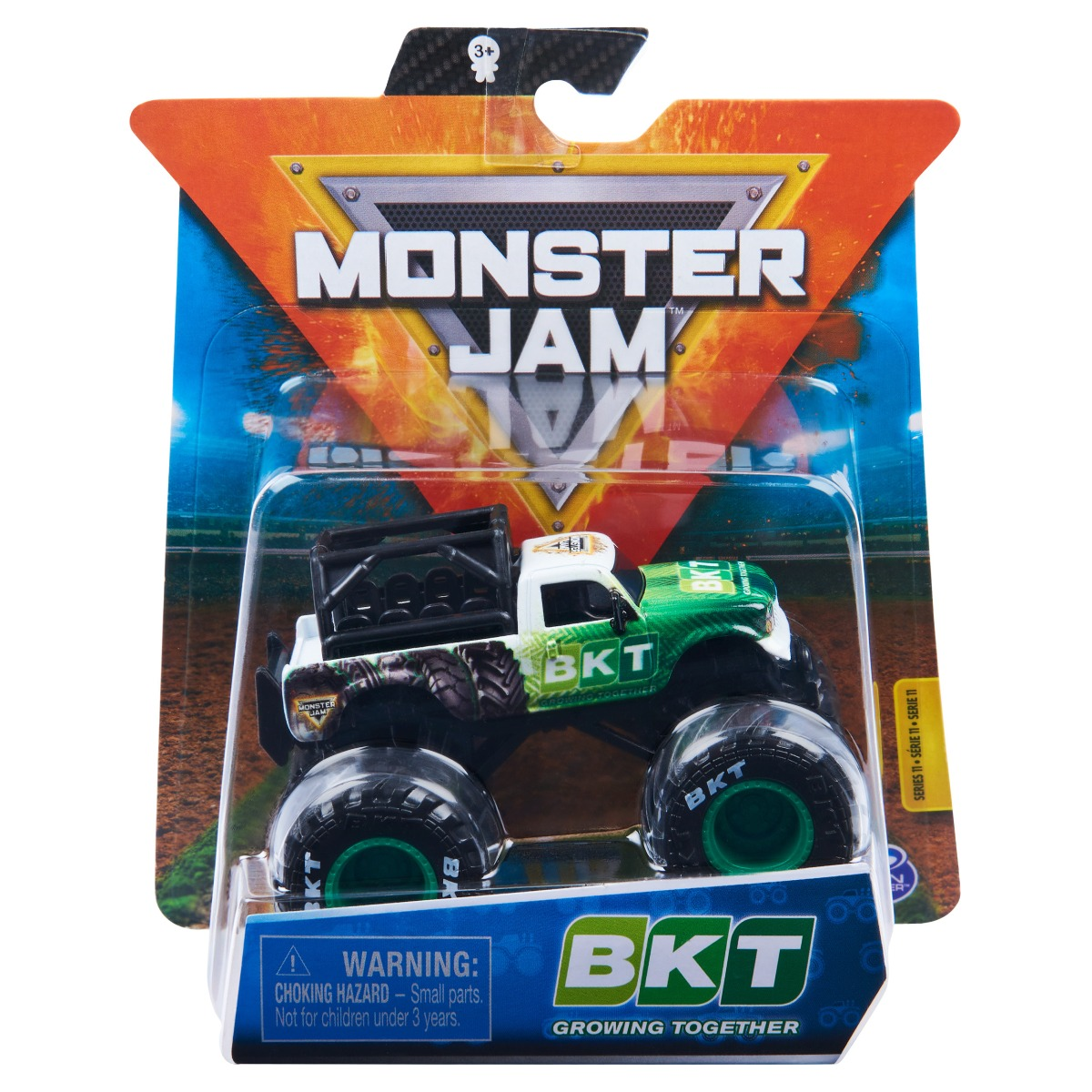 Masinuta Monster Jam, Scara 1:64, BKT Growing Together, Verde