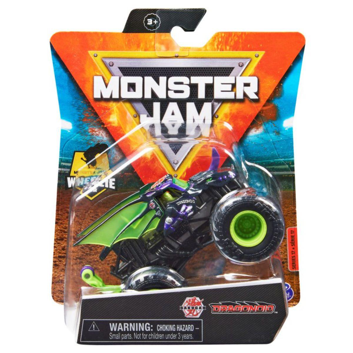 Masinuta Monster Jam, Scara 1:64, Dragonoid, 20130580