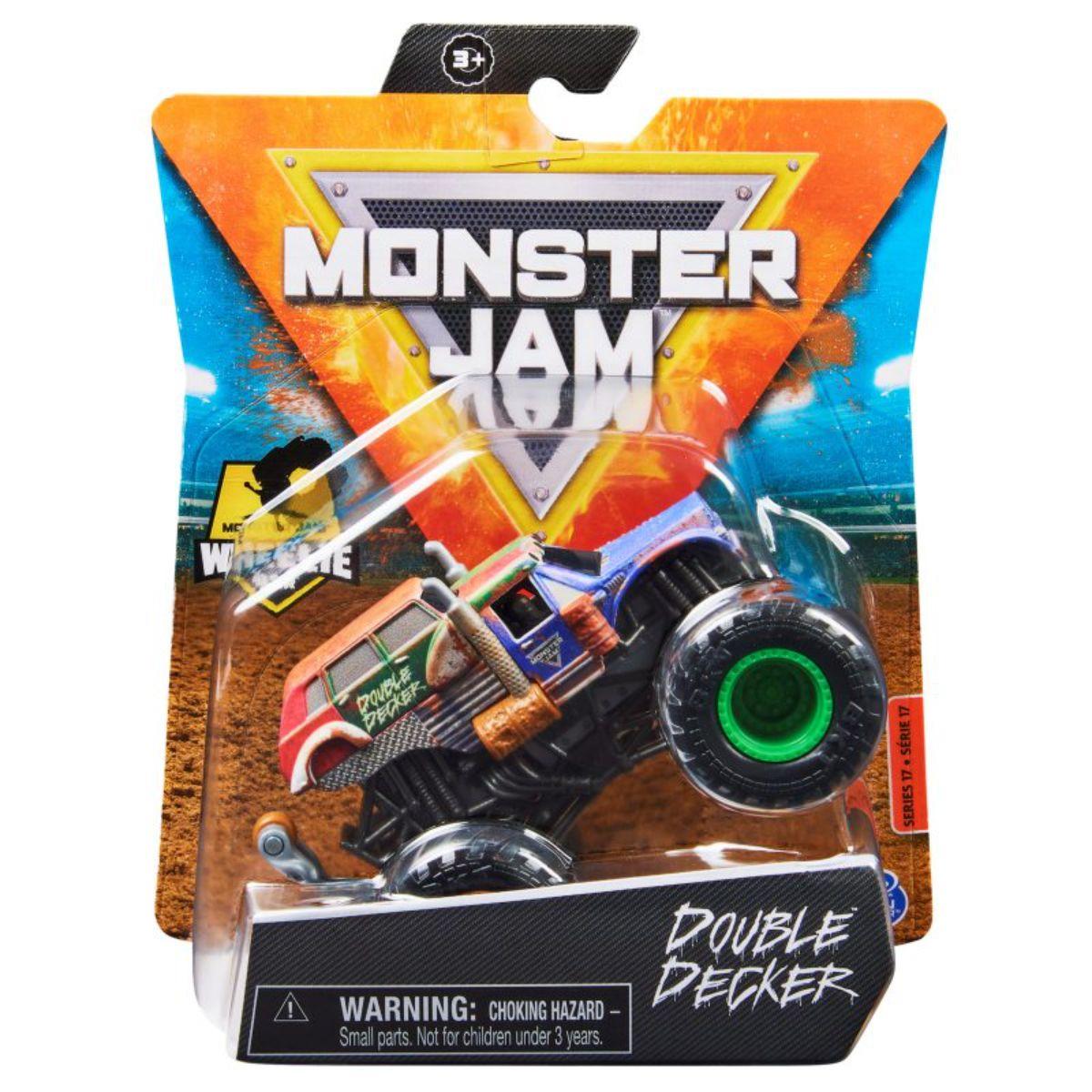 Masinuta Monster Jam, Scara 1:64, Double Decker, 20130582