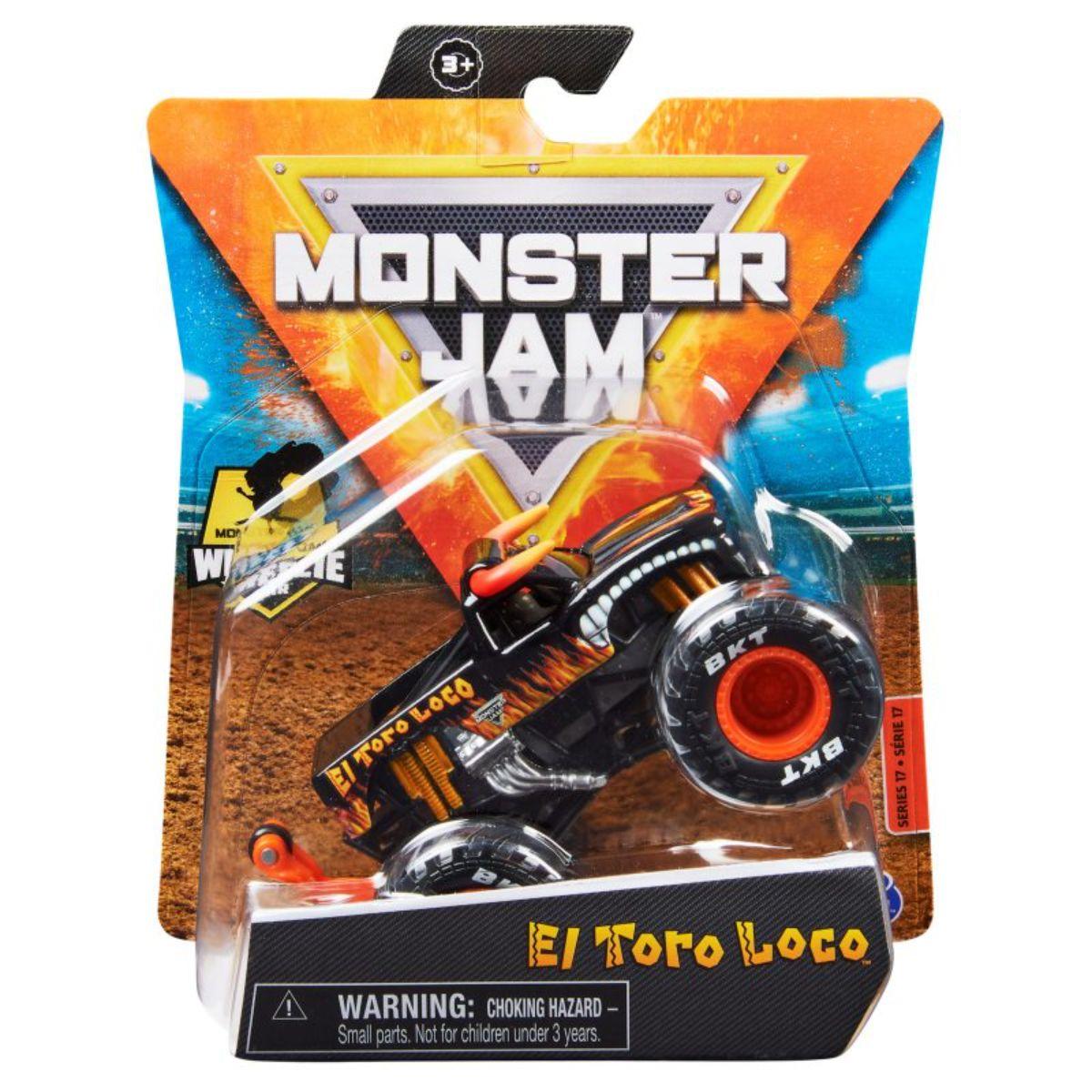 Masinuta Monster Jam, Scara 1:64, Dragon, 20130583